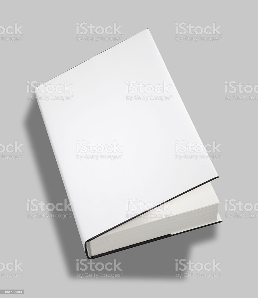 Blank book open cover w clipping path stock photo