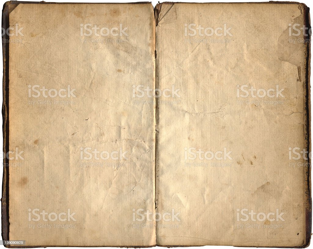 Blank book pages from 1843 royalty-free stock photo