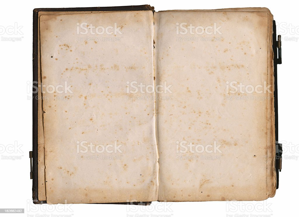 Blank Book Pages from Early 1800's stock photo