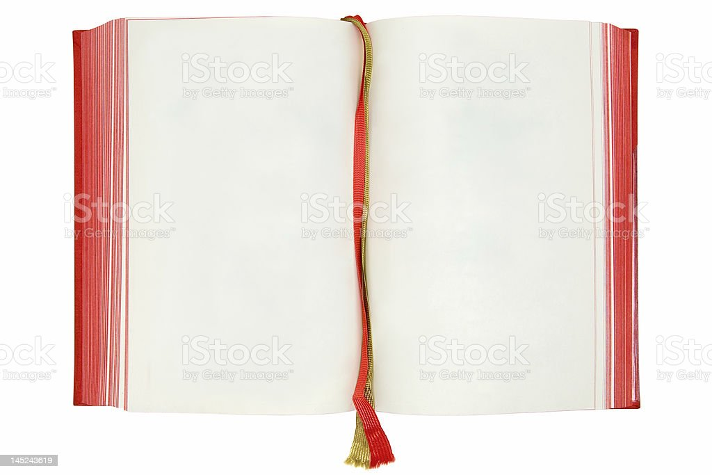 Blank Book Pages royalty-free stock photo