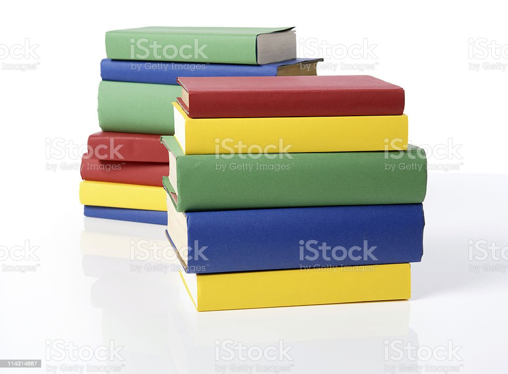 Blank book stacks royalty-free stock photo
