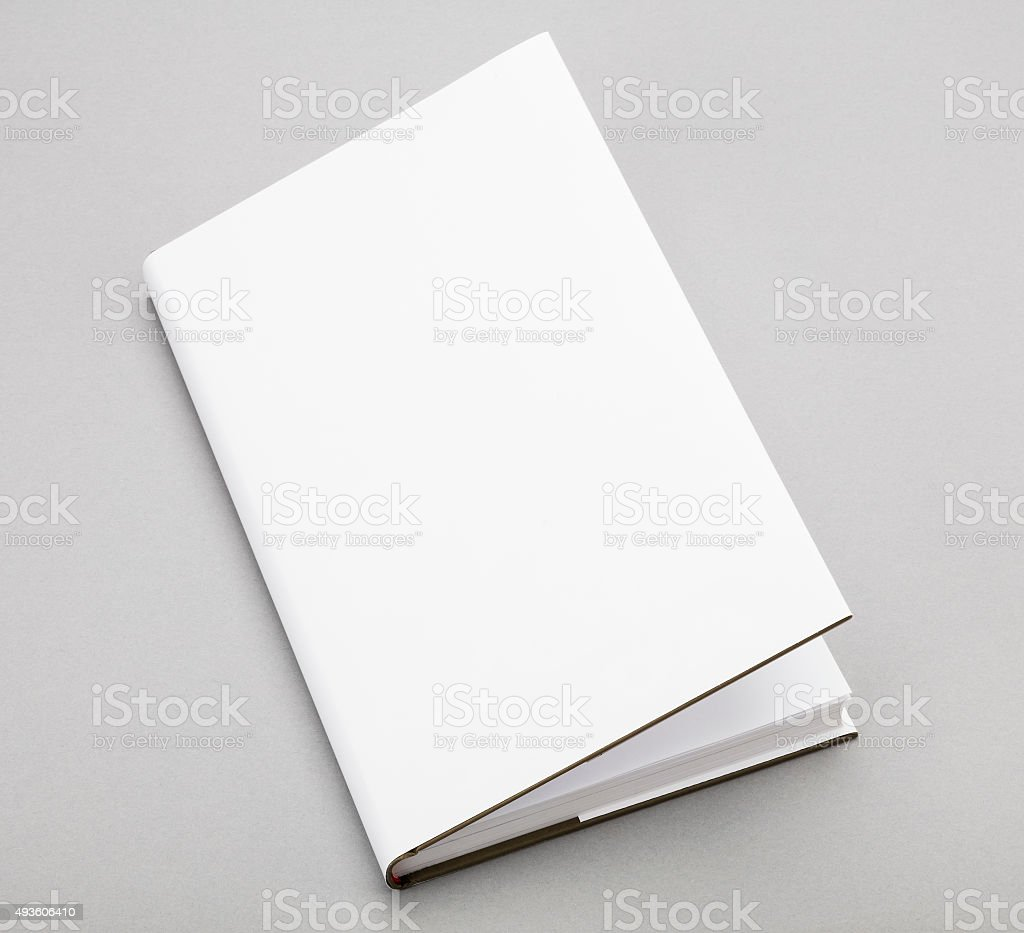 Blank book white cover 5,5 x 8,8 in stock photo