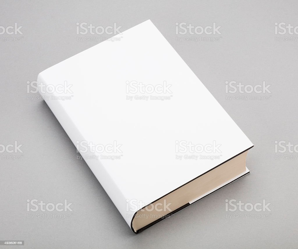 Blank book white cover 6 x 8,5 in stock photo