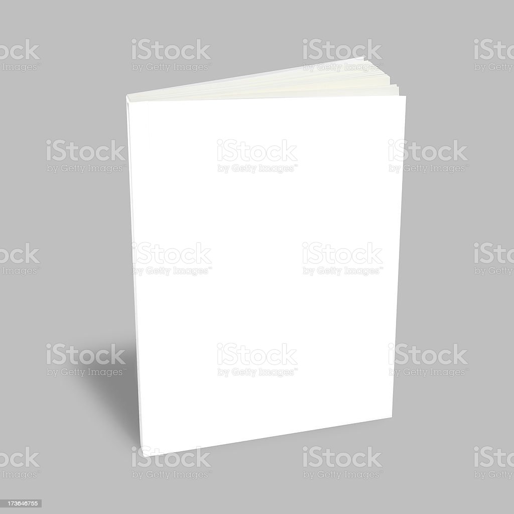 Blank book with white cover stock photo