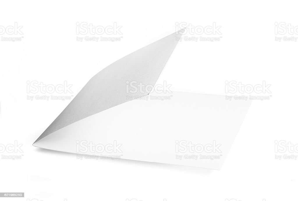 Blank booklet isolated on white background stock photo