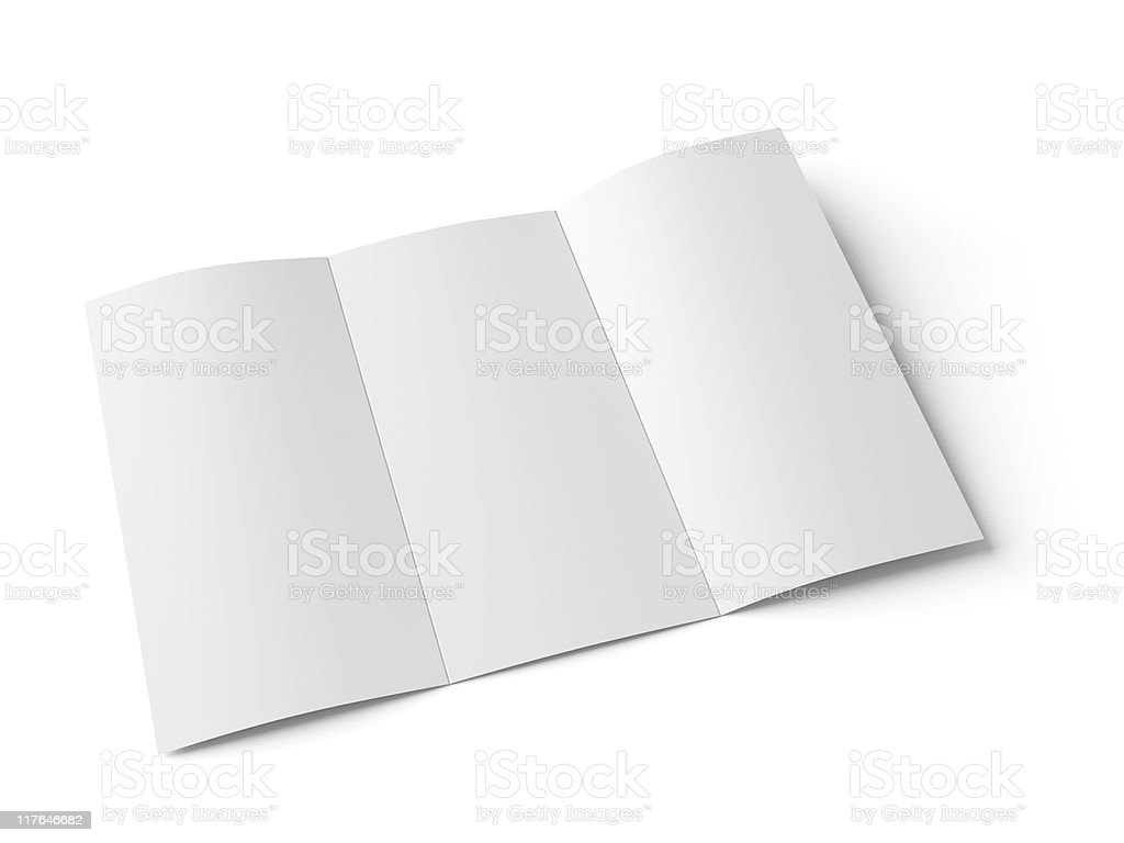 Blank booklet with scoring royalty-free stock photo