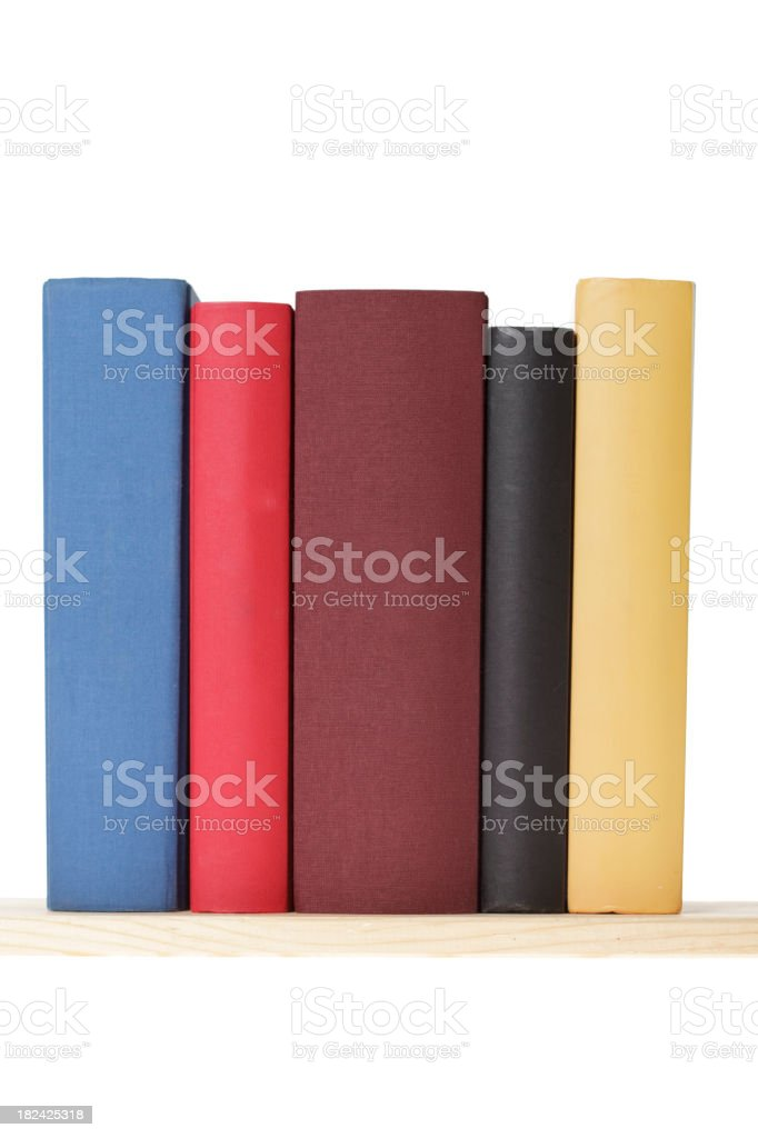 Blank books stock photo