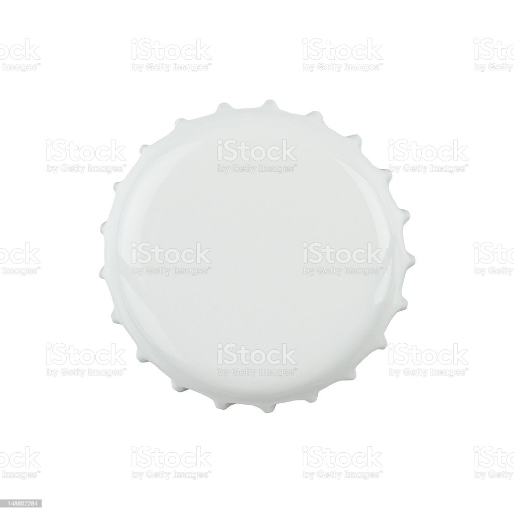 Blank bottle cap with clipping path stock photo