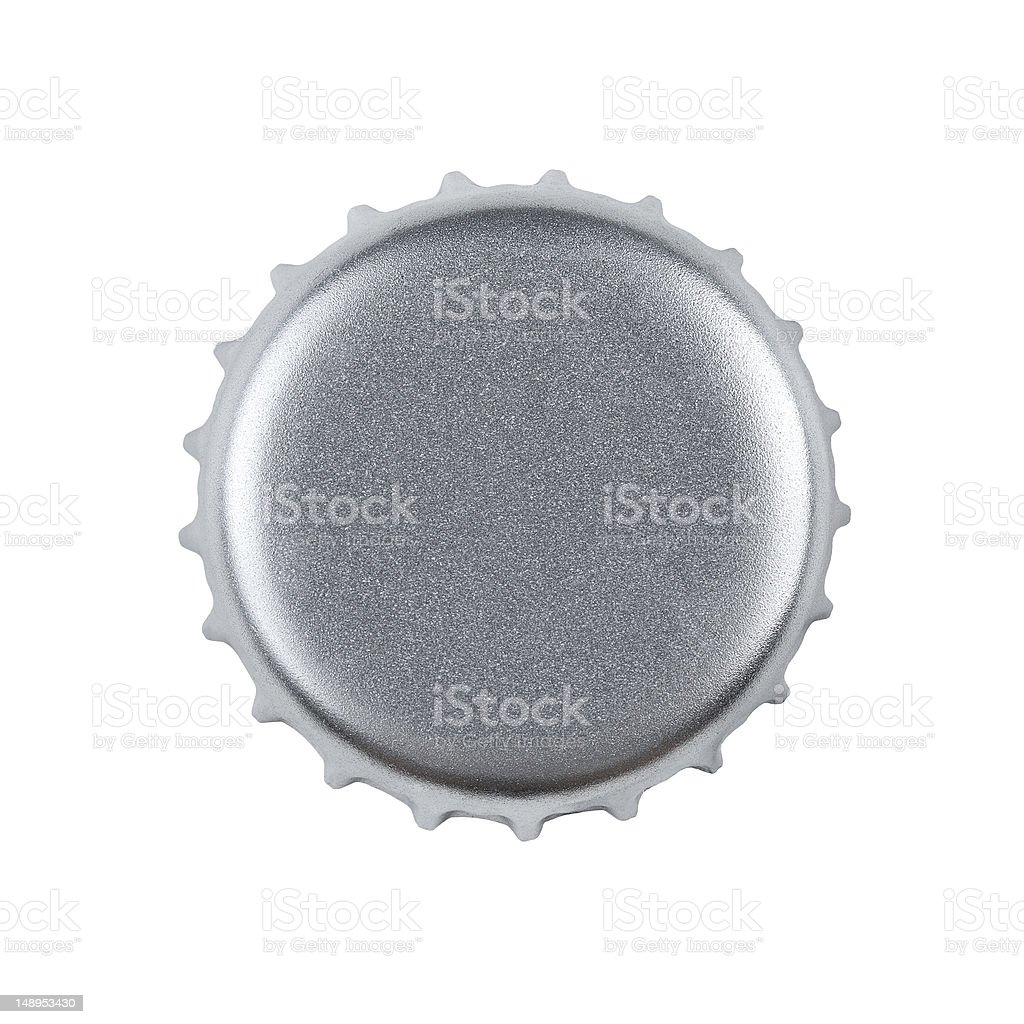 Blank bottle cap with copy space stock photo