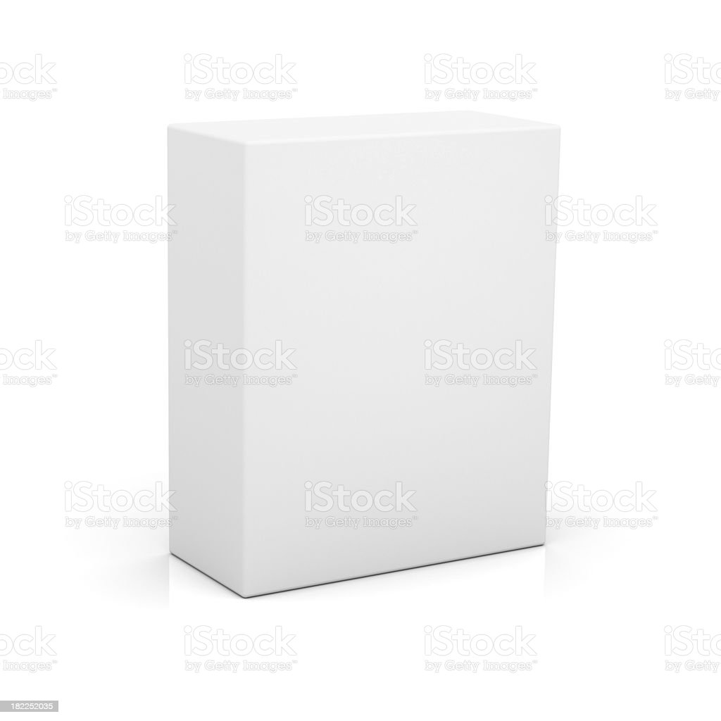 Blank box for new product stock photo
