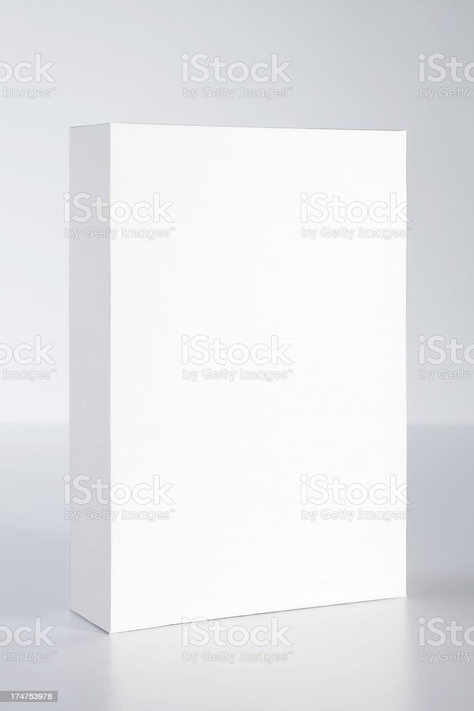 blank box on empty background (with clipping path) stock photo