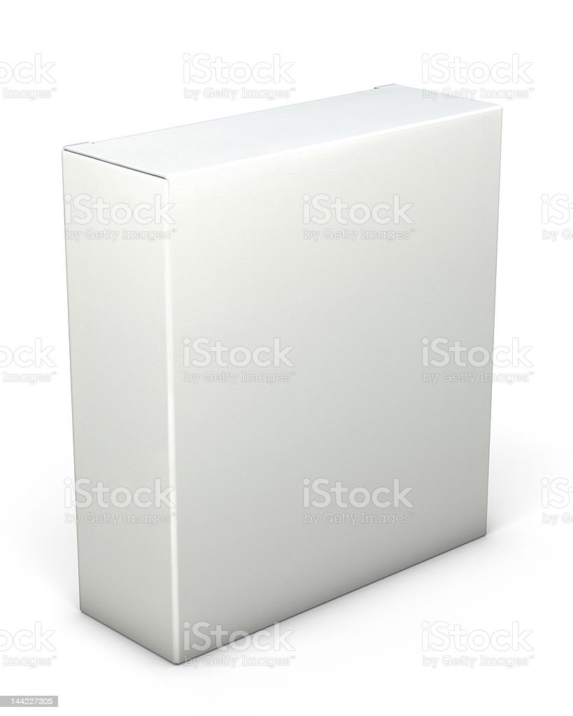 Blank box royalty-free stock photo