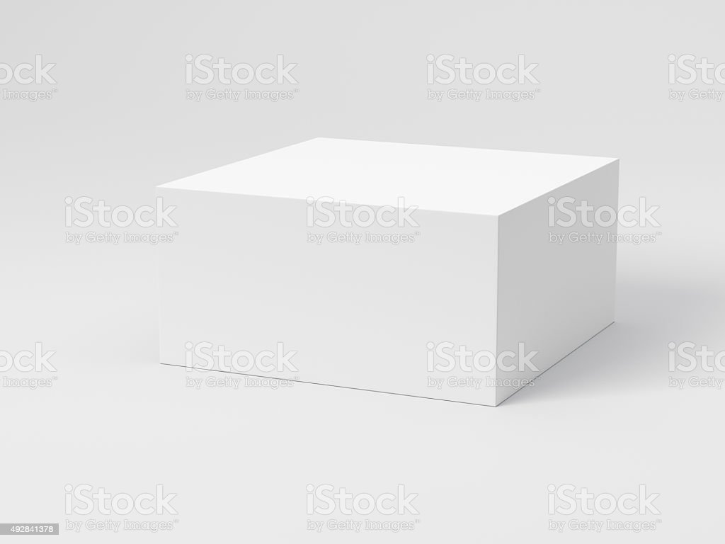 Blank Box stock photo