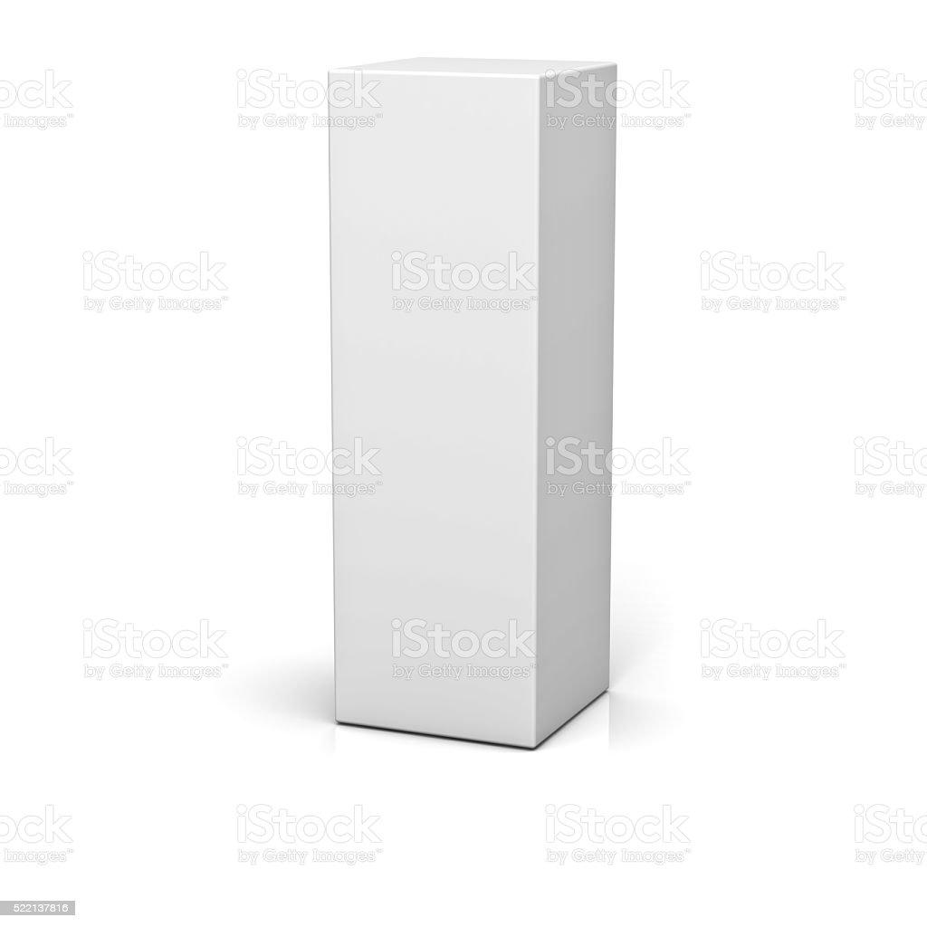 Blank box stock photo