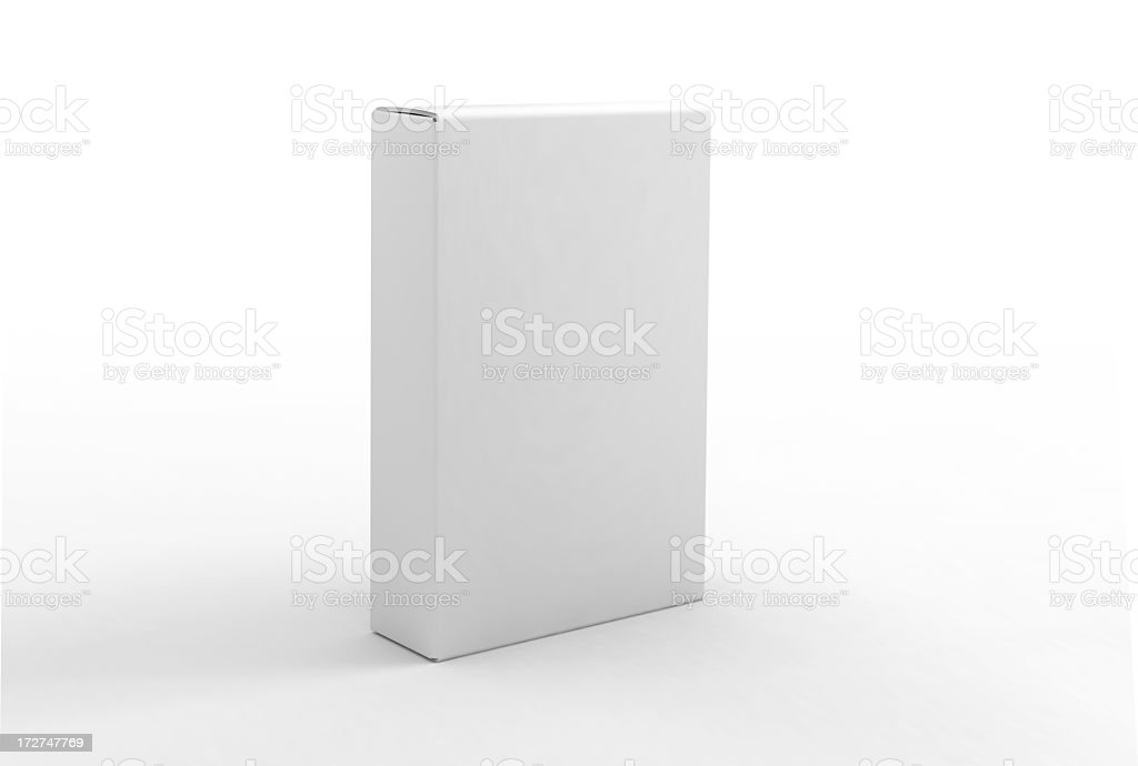 Blank Box Template stock photo