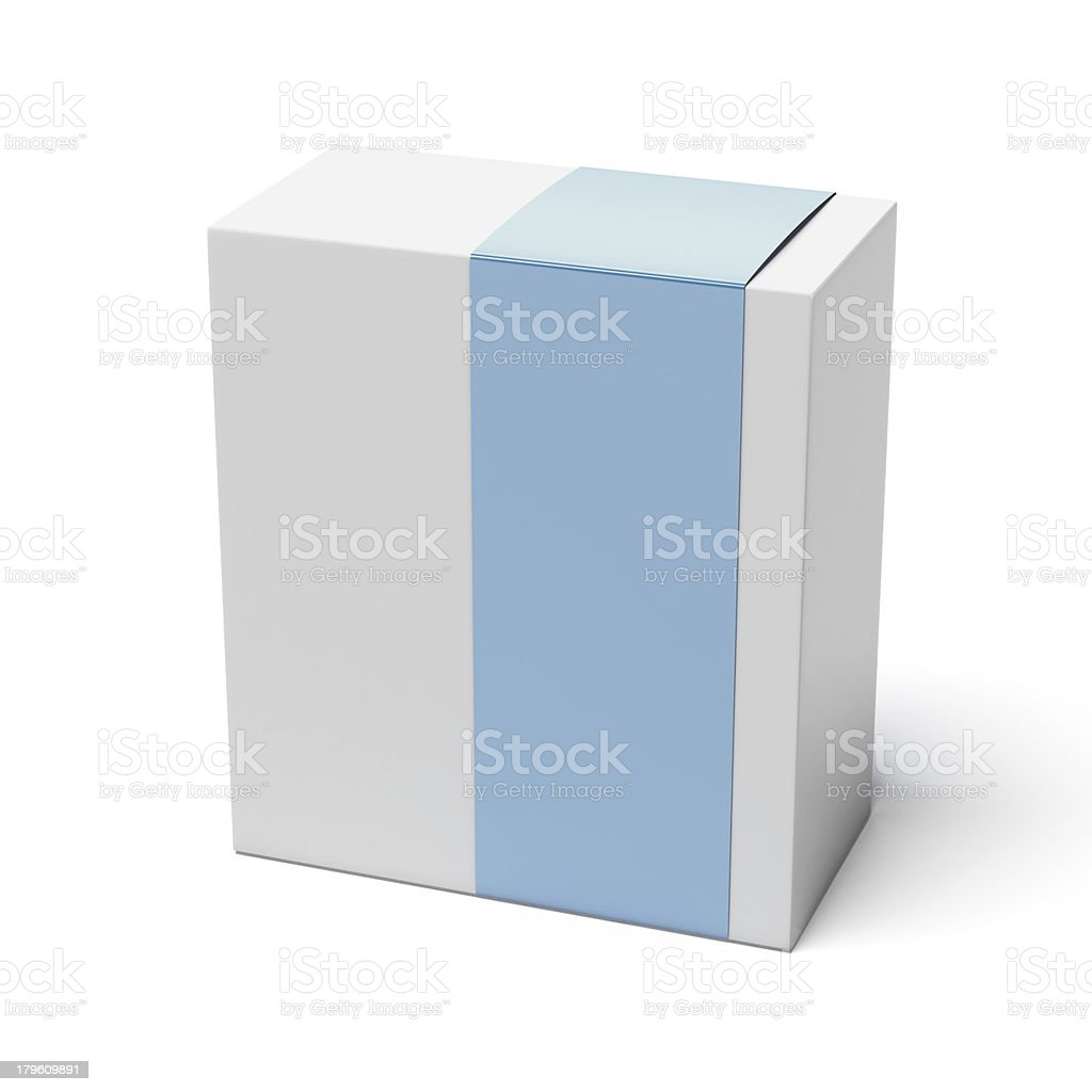 Blank box with blue cover royalty-free stock photo