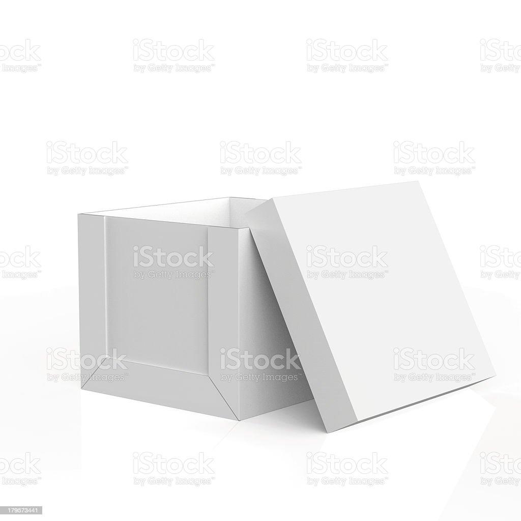 blank boxes on white royalty-free stock photo