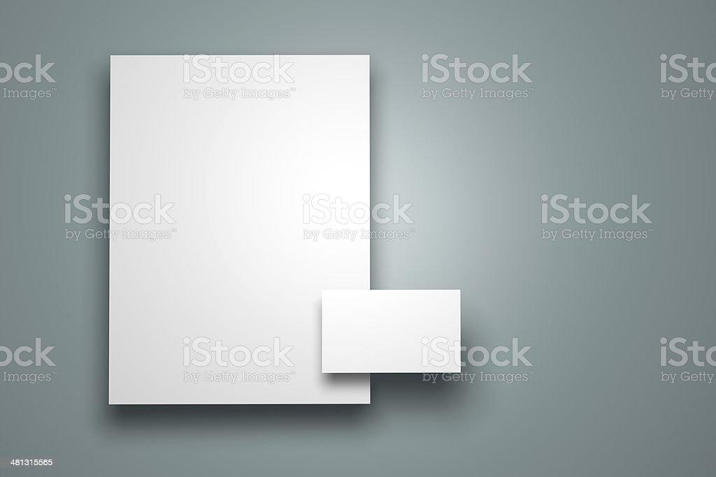 Blank brand identity mockup stock photo