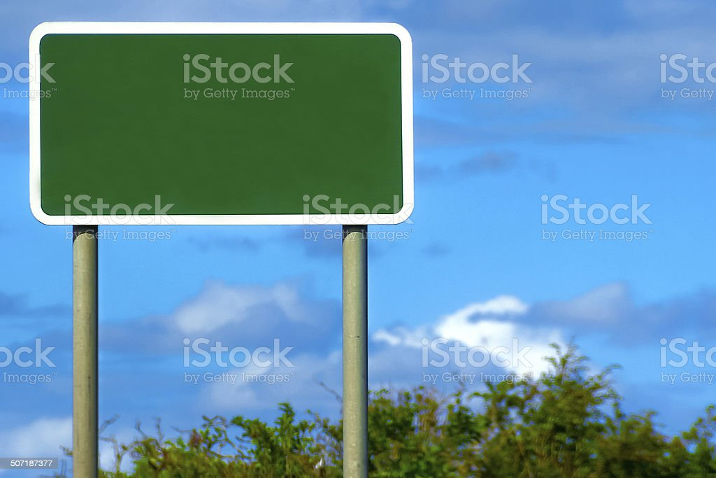 Blank British Road Sign stock photo