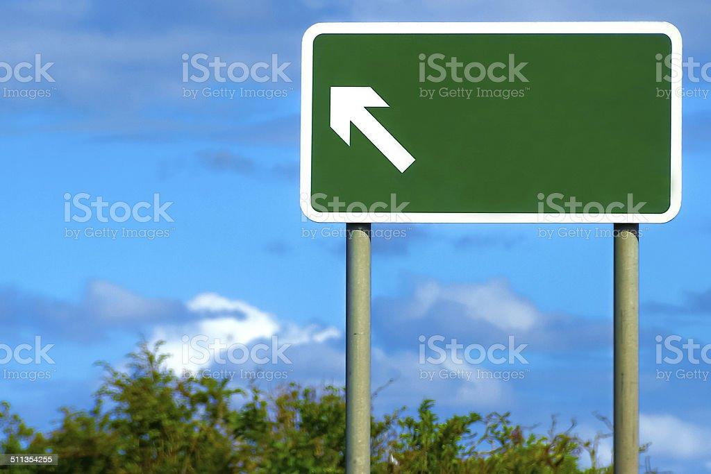 Blank British Road Sign stock photo
