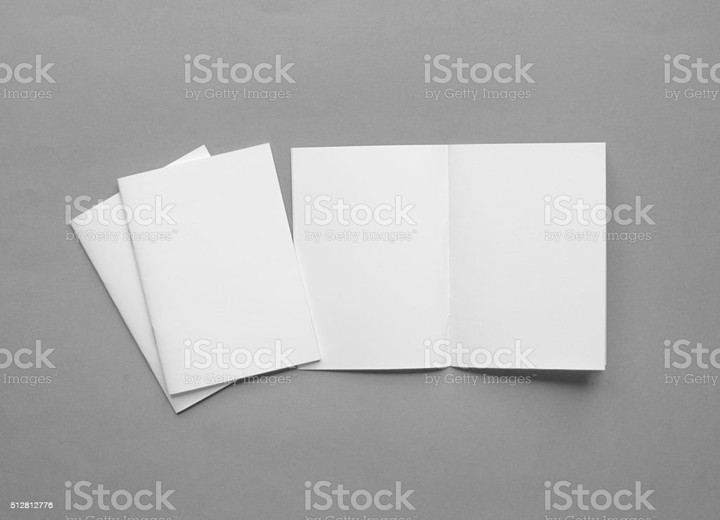 Blank brochure background with copy space stock photo