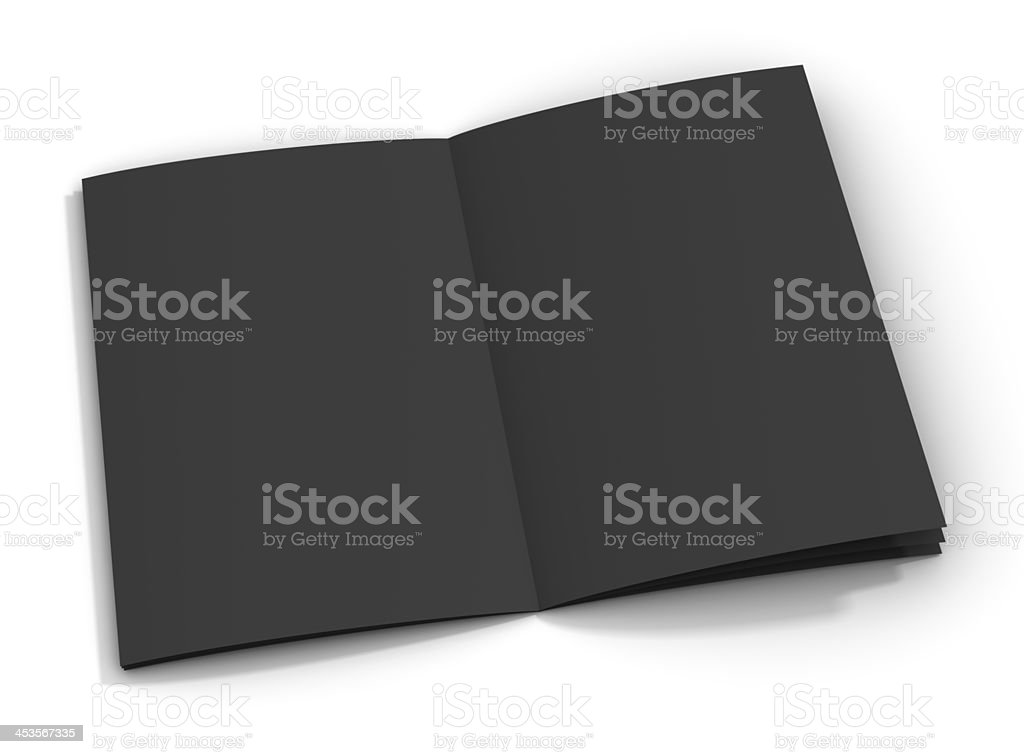 Blank Brochure - Black Paper royalty-free stock photo