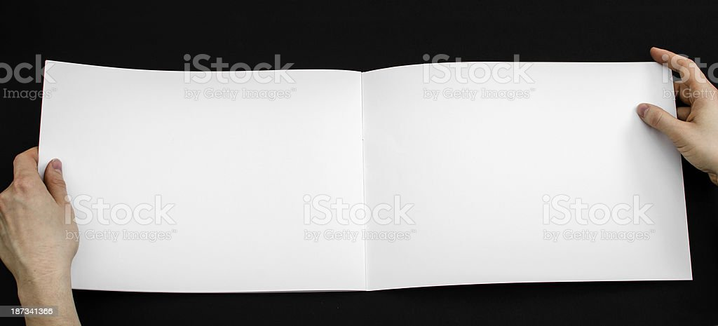 Blank brochure from above royalty-free stock photo