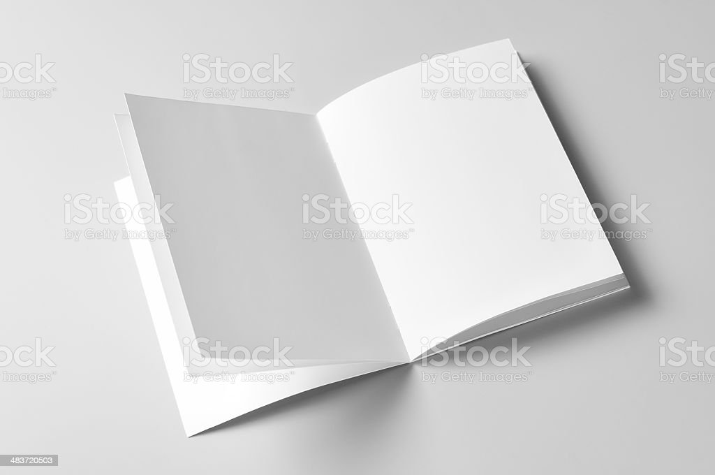 blank brochure royalty-free stock photo