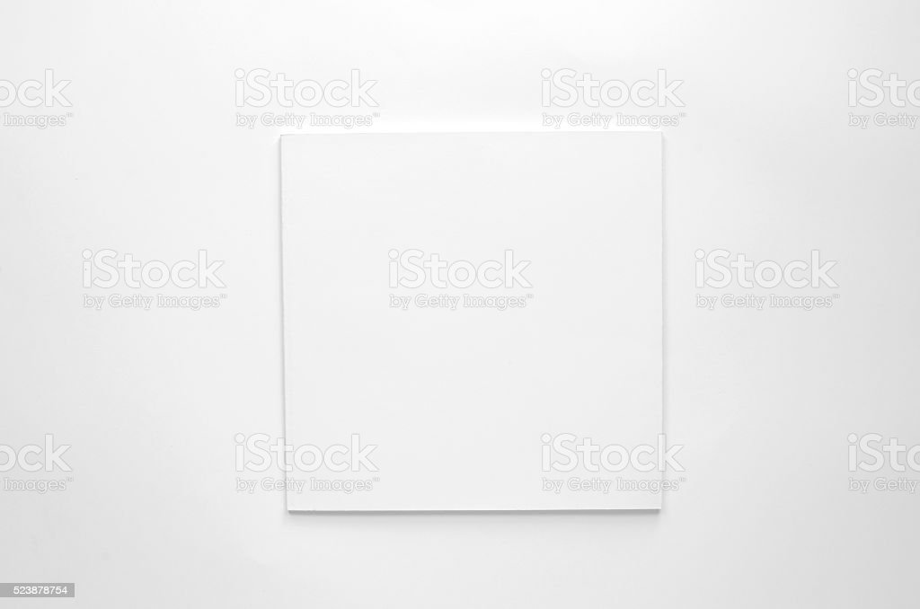 Blank brochure with copy space on white background stock photo