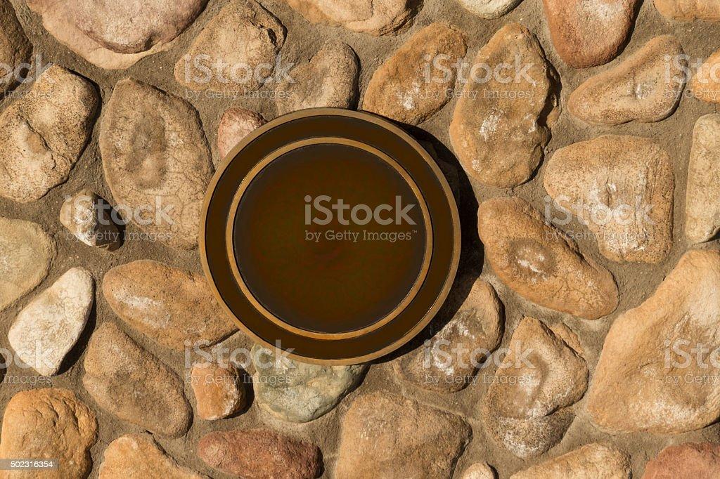Blank Bronze Seal stock photo