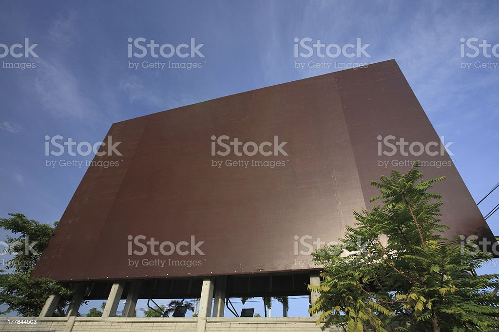 Blank brown advertisement billboard royalty-free stock photo