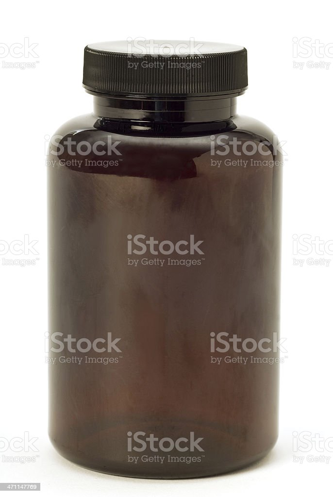 Blank Brown Bottle stock photo