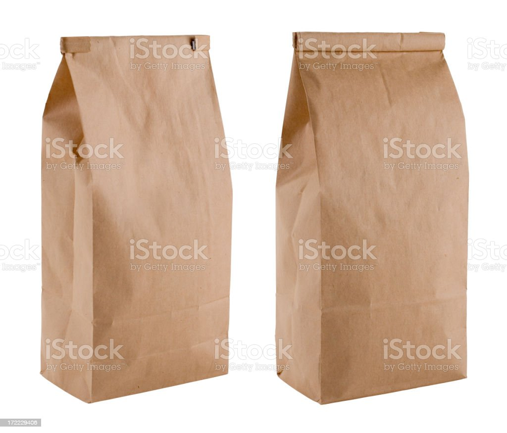Blank Brown Coffee Bags royalty-free stock photo