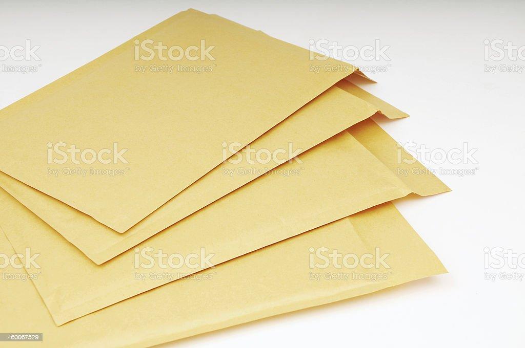 Blank Brown Envelopes stock photo