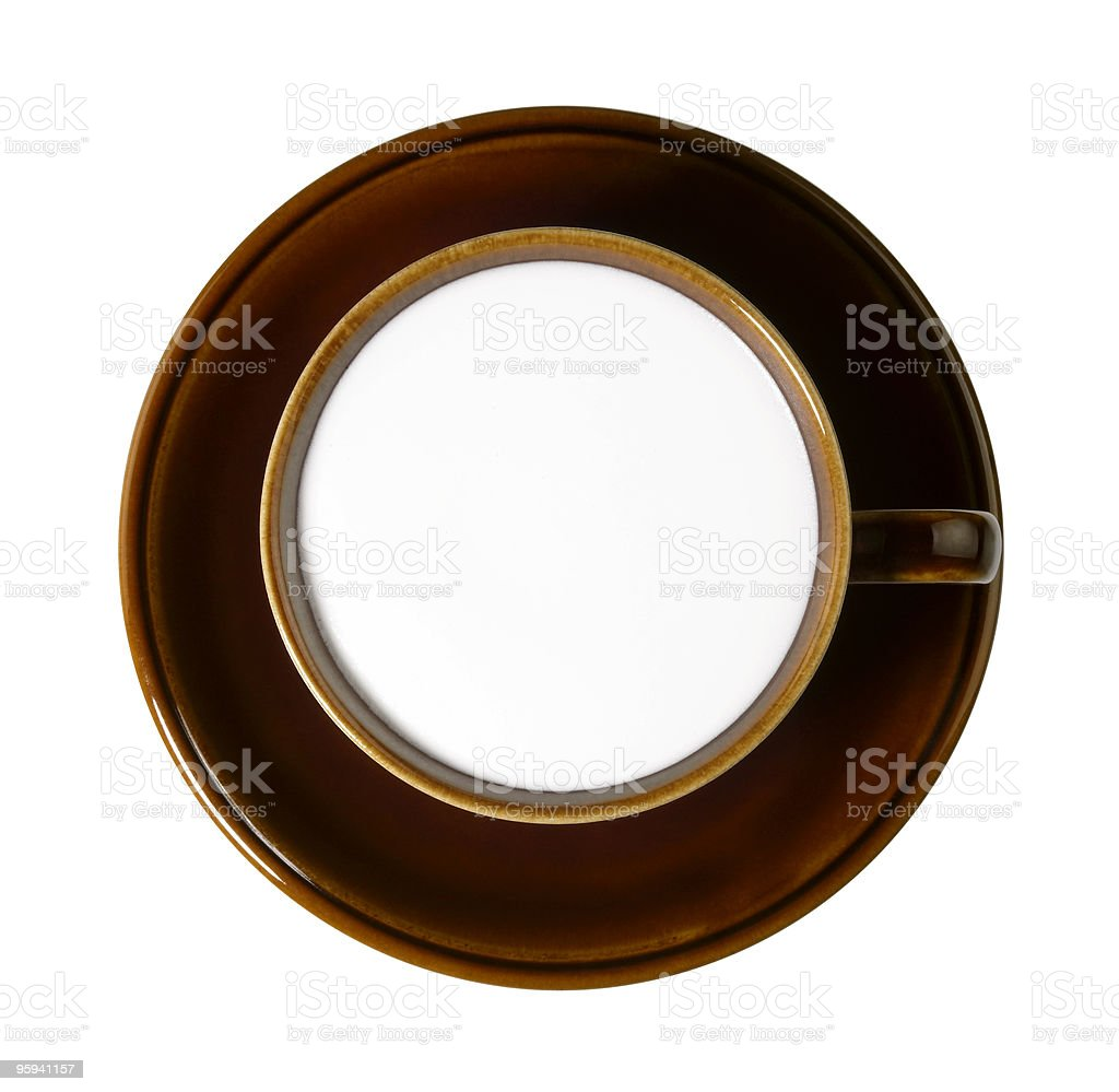 blank brown porcelain cup stock photo