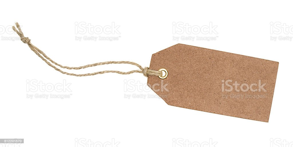 Blank brown tag stock photo