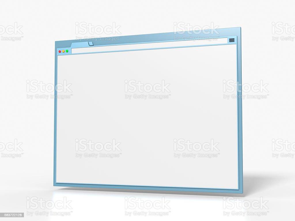Blank Browser Window stock photo