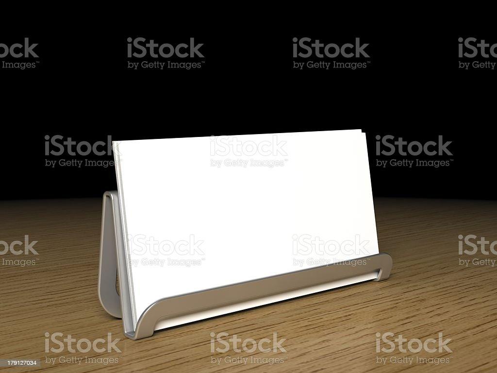 Blank Buisness Card royalty-free stock photo