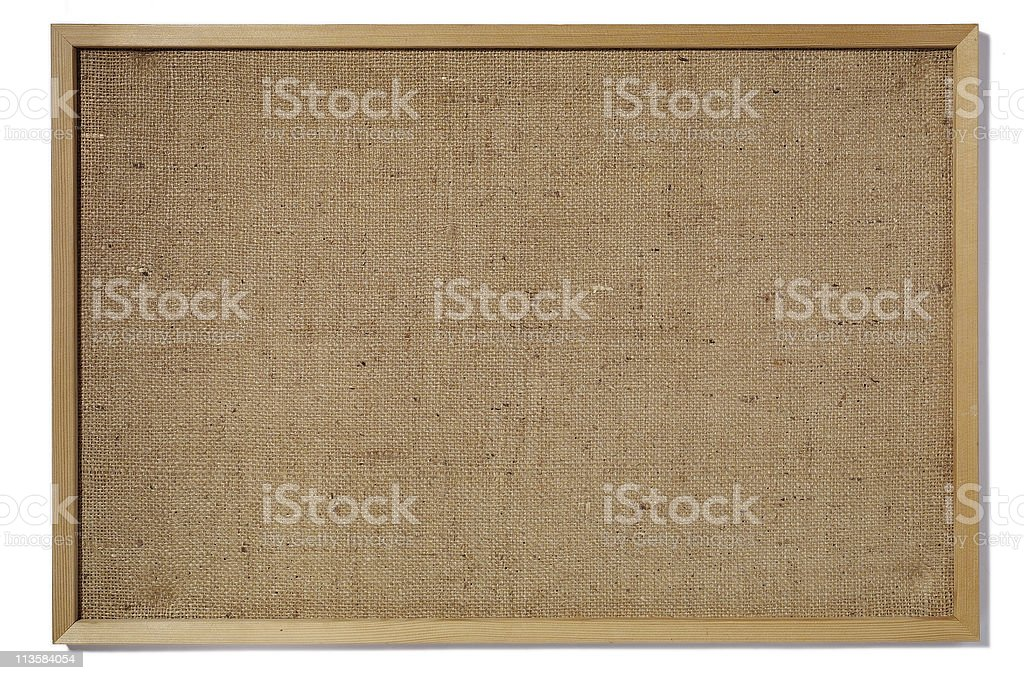 blank bulletin board cut out on white royalty-free stock photo