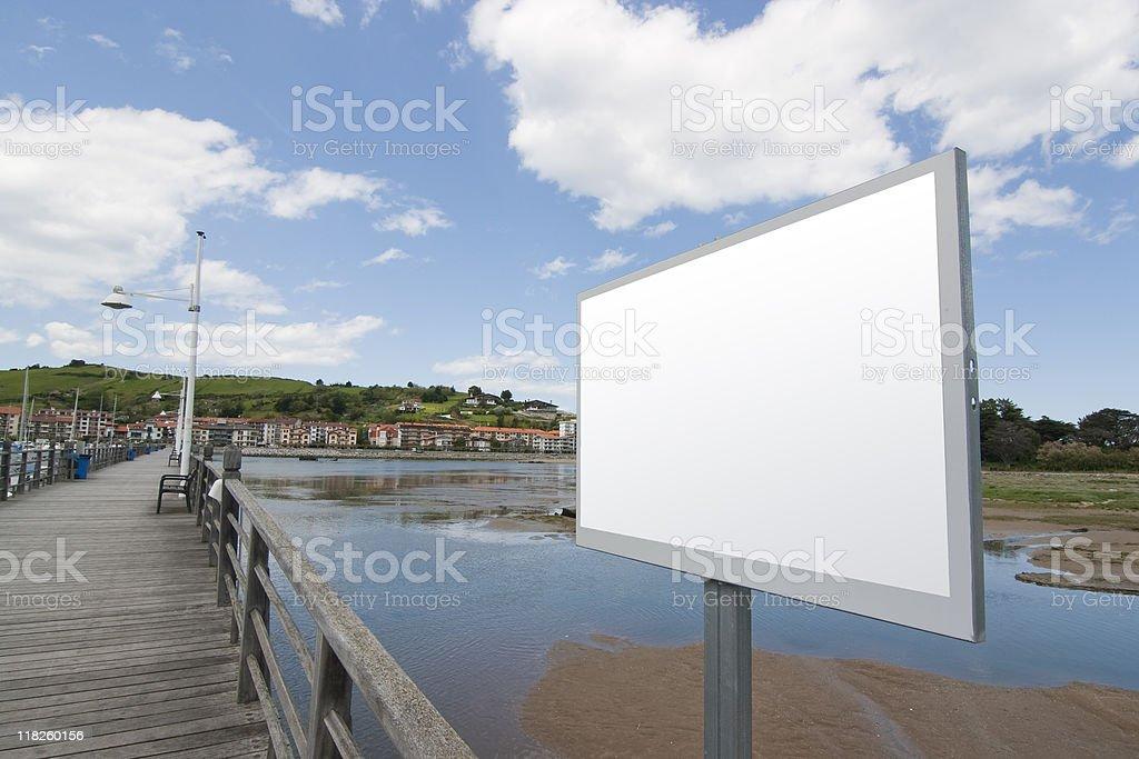 blank bulletin board stock photo