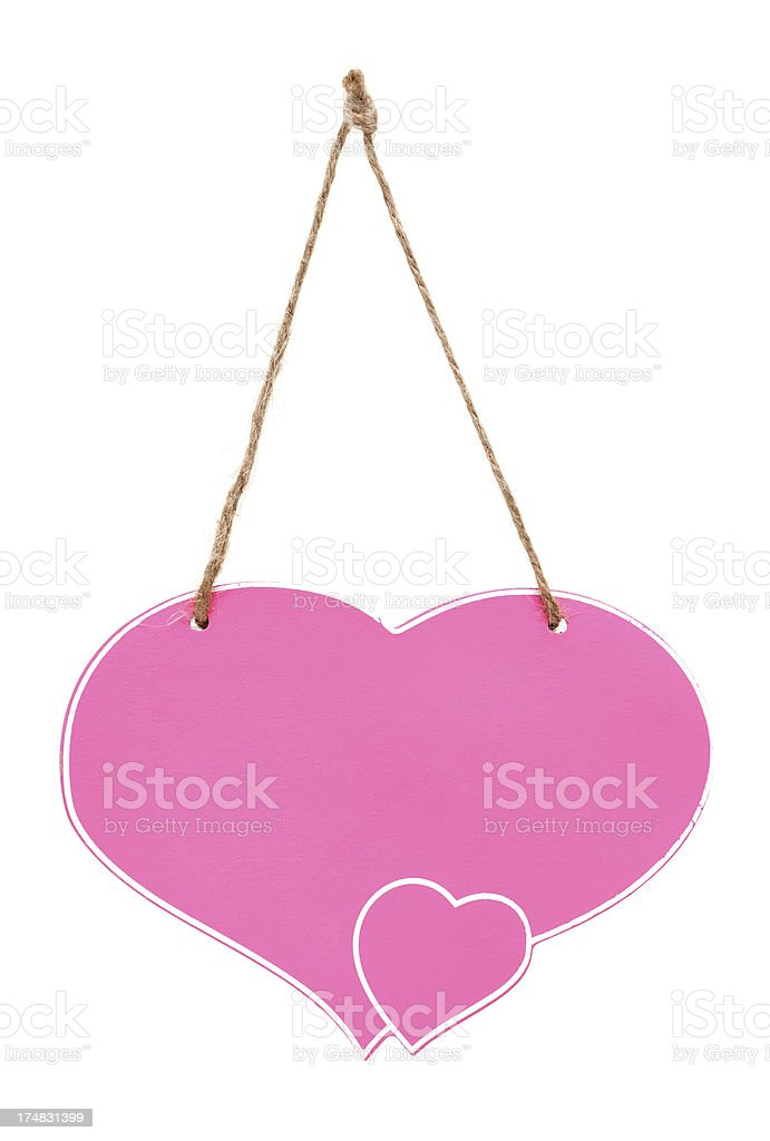 Blank bulletin board  with heart shape royalty-free stock photo