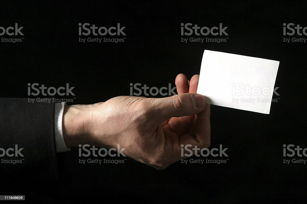 blank business card at black background royalty-free stock photo