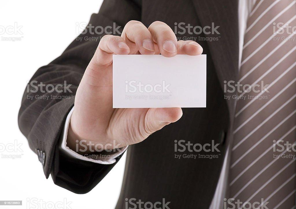 Пустой Визитная карточка в руке Стоковые фото Стоковая фотография