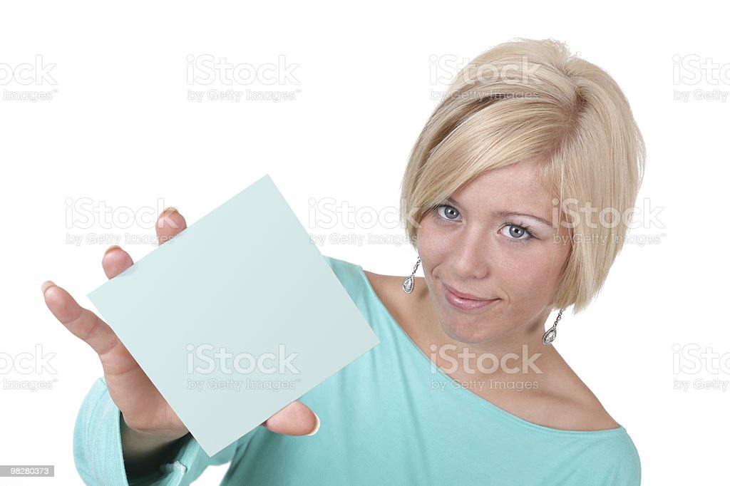 Blank business card or sign stock photo