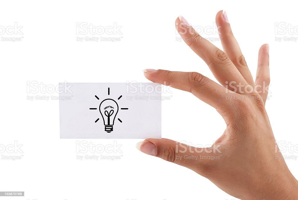 blank business card royalty-free stock photo