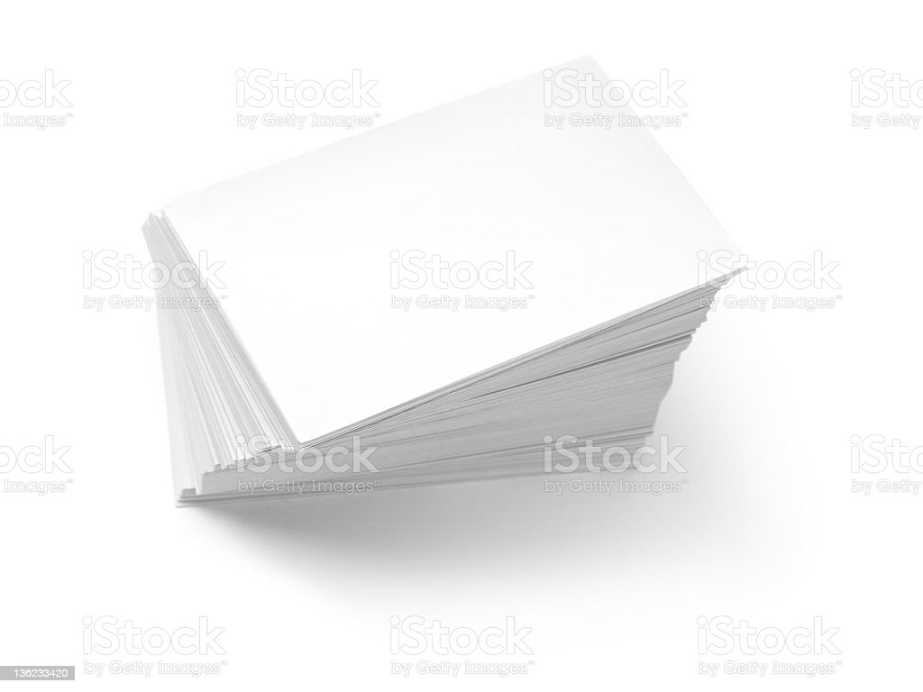 Blank business card pile royalty-free stock photo