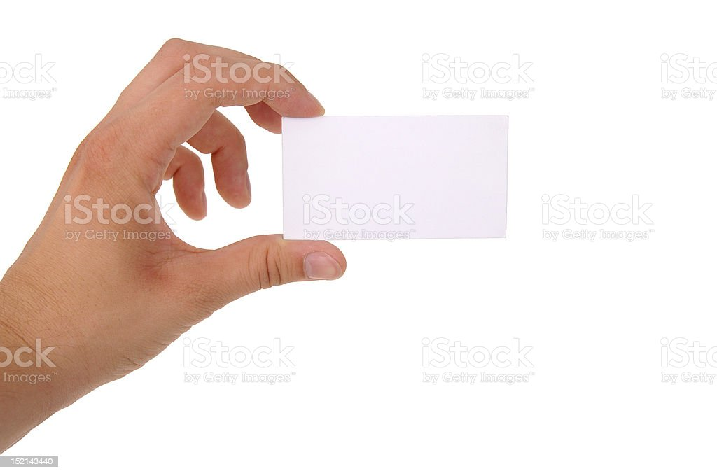 Blank business card with clipping paths royalty-free stock photo