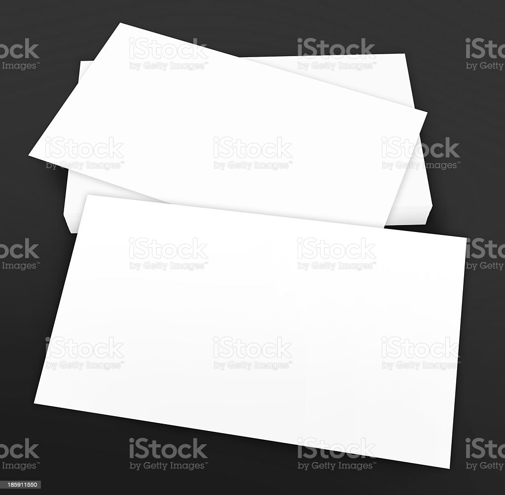 Blank business cards - brand identity mock-up royalty-free stock photo