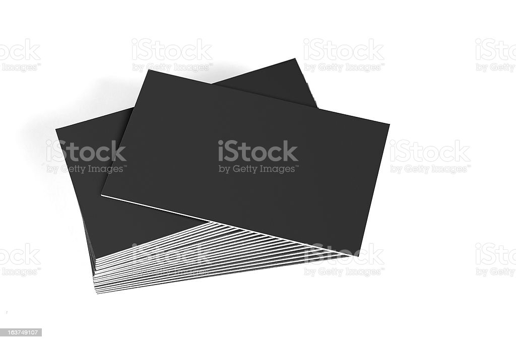 Blank business cards stock photo