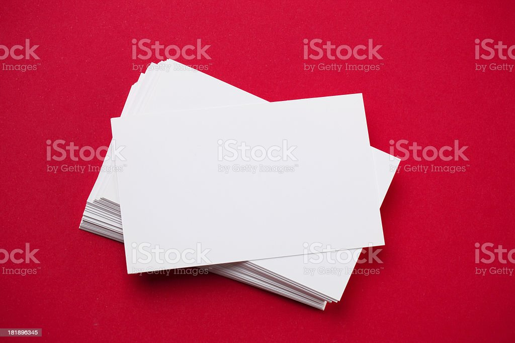 Blank Business Cards royalty-free stock photo